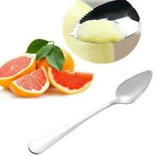 Stainless Steel Grapefruit Scraper Spoon Serrated Sawtooth LongHandle I4W6