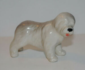 PORCELAIN Figurine DOG LANDSIR.Hand Painted