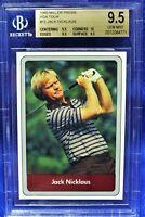 """RARE 1985 Miller Press PGA Tour Jack Nicklaus (BGS 9.5) """"True Gem"""" subs (POP 5)"""