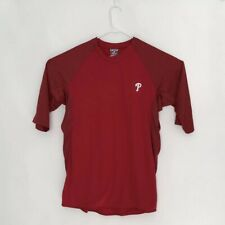 Phillies Red MLB Majestic Thermabase Short Sleeve Pullover XL