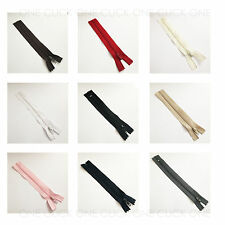 "Size 3 Nylon Closed End Zips High Quality 4"" 5"" up to 18"" Dress Cushion Zipper"