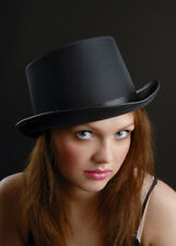 Gothic Vampire Black Satin Top Hat
