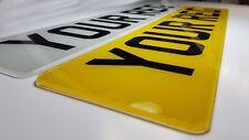 Pair Premium MOT Road Legal Car Van Reg Registration Number Plates Free Fixing