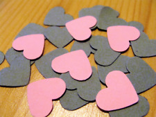 300 Pink Gray Heart Wedding Confetti Table Decoration Baby Shower Crafts