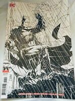 JUSTICE LEAGUE #1 (2018) DC COMICS JIM LEE BLACK & WHITE BATMAN VARIANT COVER NM