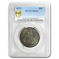 1875 Liberty Seated Half Dollar MS-63 PCGS - SKU#175618