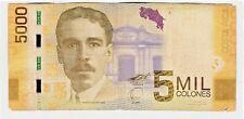 Costa Rica 5000 Colones 2-9-2009 Pick 276 Banknote