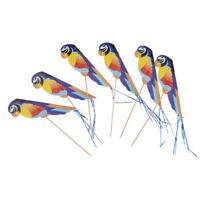 50pcs Foil Parrot Fruit Sticks Cocktail Picks Kids Party Table Decoration