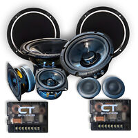 "CT Sounds Strato 6.5"" 3 Way Component Car Speakers Full Range Audio Comp Set"