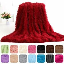 Large Fluffy Fur Blanket Long Pile Throw Sofa Bed Super Soft Warm Shaggy Cover