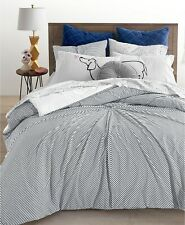 Whim by Martha Stewart Collection 3-Pc. Knot Stripe Comforter Set - KING - Black