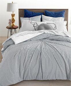 Whim by Martha Stewart Collection 3-Pc Knot Stripe Comforter Set - F / Q - Black
