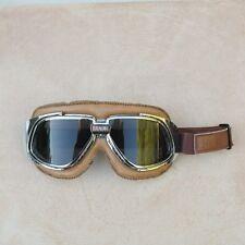 Gafas/Google/Brille BANDIT marron simil cuero con cristales ahumados