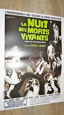 LA NUIT DES MORTS VIVANTS  ! affiche cinema horreur zombie  george a. romero
