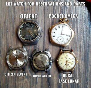 LOT OF OMEGA, CITIZEN, DUCAL Moon Phase, ORIENT AND ANKER WATCHES