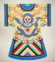 MZC Oriental Kimono Dragon Serpent HP Hand Painted Needlepoint Canvas