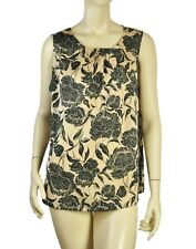 TALBOT SLEEVELESS FLORAL BLOUSE TOP 14