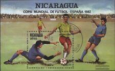 Nicaragua block142 (complete issue) used 1982 Football-WM Spain