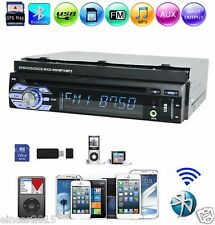 1 Din In Dash Car Video DVD Player FM AM Radio Touchscreen Stereo GPS Bluetooth