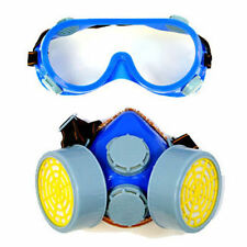 2PC GOGGLE SAFETY SET RESPIRATOR DUST MASK PROTECTIVE EYE GOGGLES PAINT FILTER
