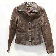 VA Brucek Leather Blazer Jacket Size 1 Womens Excellent Used VINTAGE Cond 2089