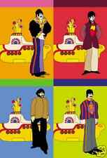 The BEATLES YELLOW SUBMARINE 4 NOTEPAD SET John Lennon