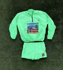 Vintage 1990 Daytona Beach Speedweeks Quarter Zip Long Sleeve w/ Shorts NASCAR