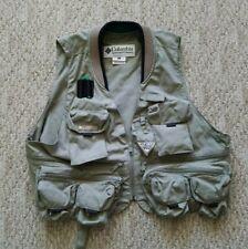 Columbia PFG Fishing/Photography/Hunting/Travel Vest - Khaki - Men's Size Large