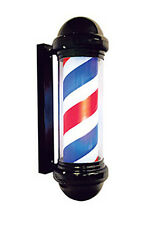 Burmax Barber Pole Indoor Outdoor Lighted Cylinder Spins on/off switch 6' cord