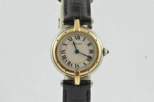 Cartier Panthere Ronde 1057920 Acciaio/Oro Vintage Bellissima Condizioni 25MM