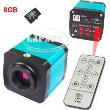 14MP 1080P HDMI USB Industry C-mount Digital Microscope Video Camera 8GB TF Card