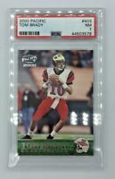 Tom Brady Rookie Card RC 2000 Pacific #403 NFL Graded PSA 7 Tampa Hard_8s_Magic