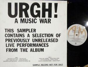 Urgh! A Music War OZ Only Promo LP sampler NM '81 A&M Police Oingo Boingo
