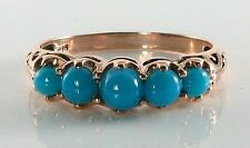 9Carat Turquoise Rose Gold Ring Vintage Fine Jewellery