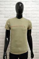 Maglia ENERGIE Uomo Taglia Size XS Maglietta Shirt Man Cotone Manica Corta Slim