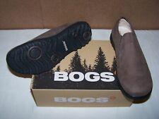 Bogs Mens Eugene Slip On Size 11.5 Waterproof Leather Shoe NEW Brown 71605