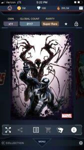 Topps Marvel Collect! Carnage/Venom Symbiotes Tilt SUPER RARE   DIGITAL