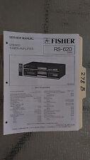 Fisher rs-620 service manual original repair book stereo receiver tuner radio