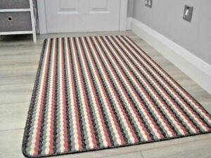Small Large Modern Pink Washable Non-Slip Long Hall Kitchen Heavy Duty Rugs Mats