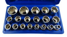 """Steckschlüssel Satz 19-tlg 1/2"""" Außen Vielzahn Nüsse 12-kant Nuss Set 8-32mm"""