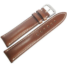 19mm Rios New York Cognac Brown Shell Cordovan Leather German Watch Band Strap