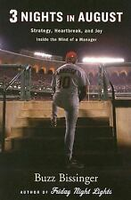 Three Nights in August Baseball by Bissinger Cubs Cardinals 1st HC/DJ
