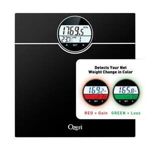 Ozeri Bath Scale Bathroom 440 lbs 200 kg BMI BMR 50 gram Weight Change Detection