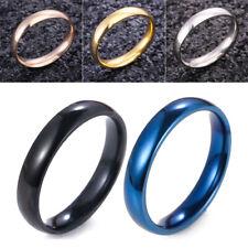 Hombre Mujer De Acero Inoxidable brillante espejo pulido anillo de bodas 5-13