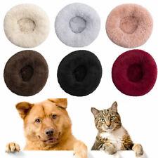 Donut Pet Dog Cat Bed  Long Plush Fluffy Soft Warm Calming Sleeping Kennel Nest