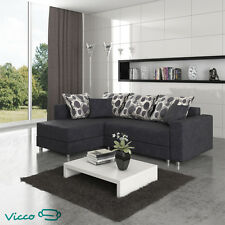 Vicco Sofa Couch Polsterecke Bochum Schlafsofa Ecksofa Gästebett anthrazit Bett