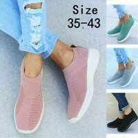 Women Mesh Trainers Sport Running Sneakers Slip on Tennis Breathable Sock Shoes