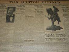 1908 NOVEMBER 23 THE BOSTON HERALD NEWSPAPER - CALEB CHASE DEAD - BH 217