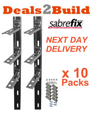 10 x Wall Starter Kits - Stainless Steel - Ties & Fixings FREE NEXT DAY DELIVERY