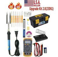 110V Electric Soldering Iron Gun Tool Kit Welding Desoldering Pump Tool Set 60W